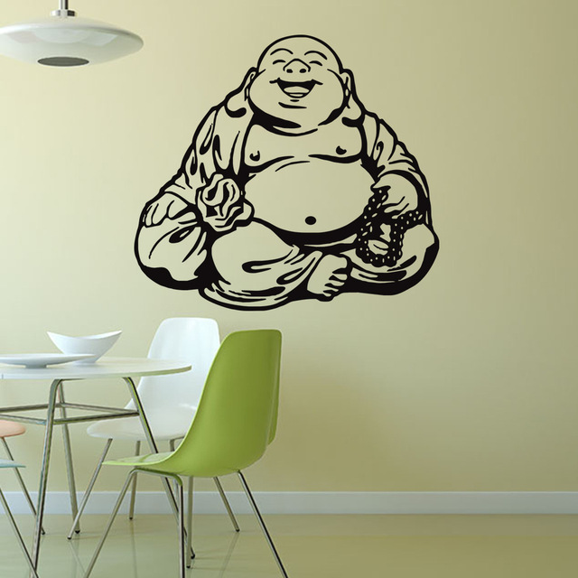Buddhist Culture Maitreya Buddha Wall Decal Home Decor Living Room Bedroom  Diy Art Mural Wallpaper Removable