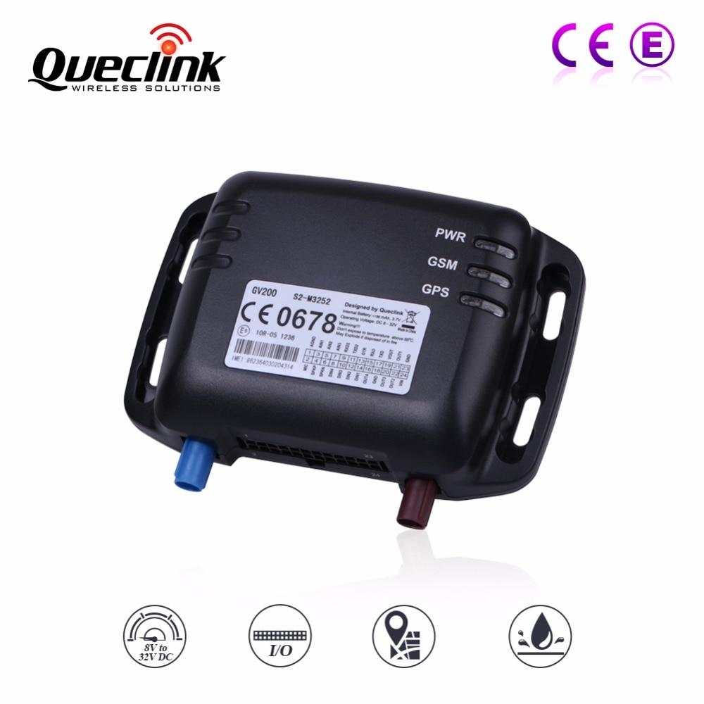 GPS трекер GPS устройства слежения GSM локатор гусеничный queclink gv200 8 32 В Google Карты ссылка Поддержка Камера топлива Сенсор canbus