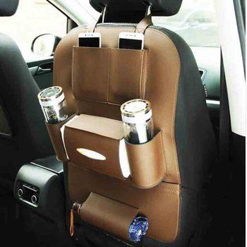 DNHFC Auto sitz leder multi-funktion auto sitz lagerung tasche Für BMW X5 X6 X3 X4 F15 F16 F25 f26 E70 E83 2010-2015 2016
