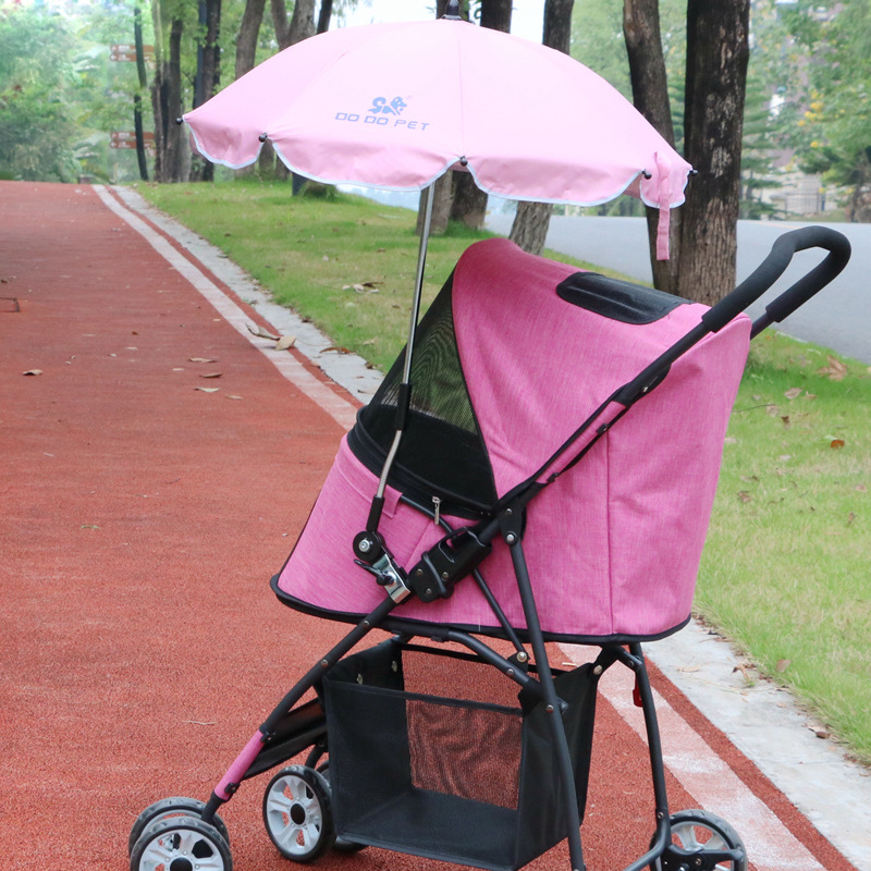 New Sunshade Umbrella For Dog Stroller/Carry Cart/Draw-bar Box Pet Stroller Accessories Anti UV/Rain Umbrella For Trolley Kennel drawer