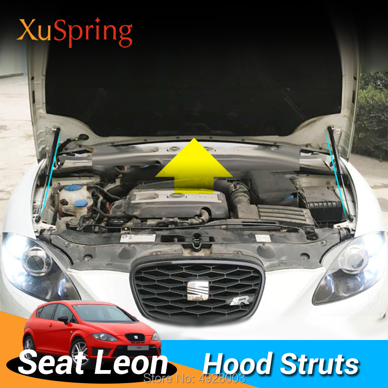 Car Engine Cover Hood Spring Shock Bracket Hydraulic Rod Strut Bars for Seat Leon 2005 2012 mk2 Typ1P No Drilling/Welding