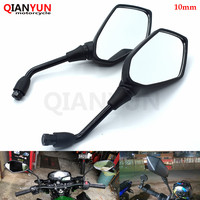 Universal 10MM Motorcycle Handlebar Rear View Side Mirror Rearview Mirrors For Yamaha FZ1 FZ6 FZ8 FZ6R XJ6 MT 07 MT 09 MT09|Side Mirrors & Accessories| |  -