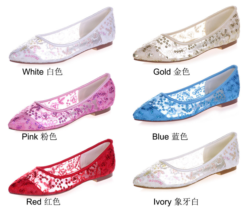 580abda35173 Creativesugar Pointed toe perspective see through lace ballet flats ...
