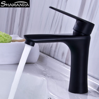 New Arrival Free Shipping 304 Stainless Steel Black Finished Basin Faucet Various Styles Single Handle Mixer