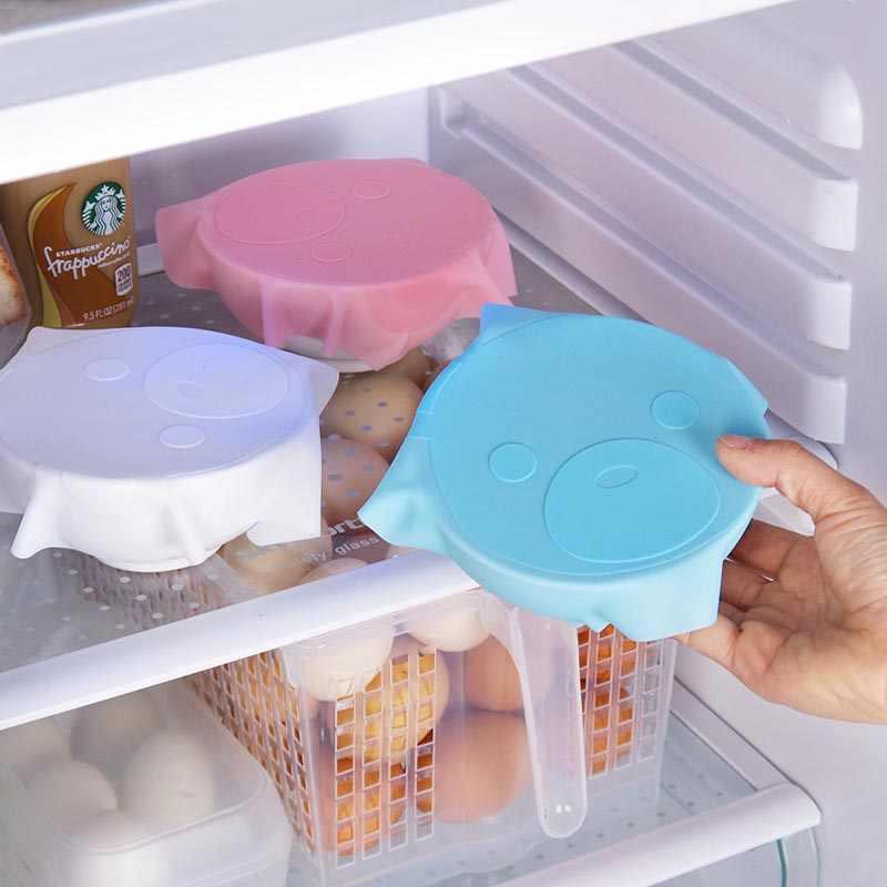 Nowy silikonowy Saran Wrap wielokrotnego użytku Cling Film na jedzenie w lodówce pokrywa do przechowywania kuchnia kuchenka mikrofalowa ogrzewanie świeża żywność pokrywki