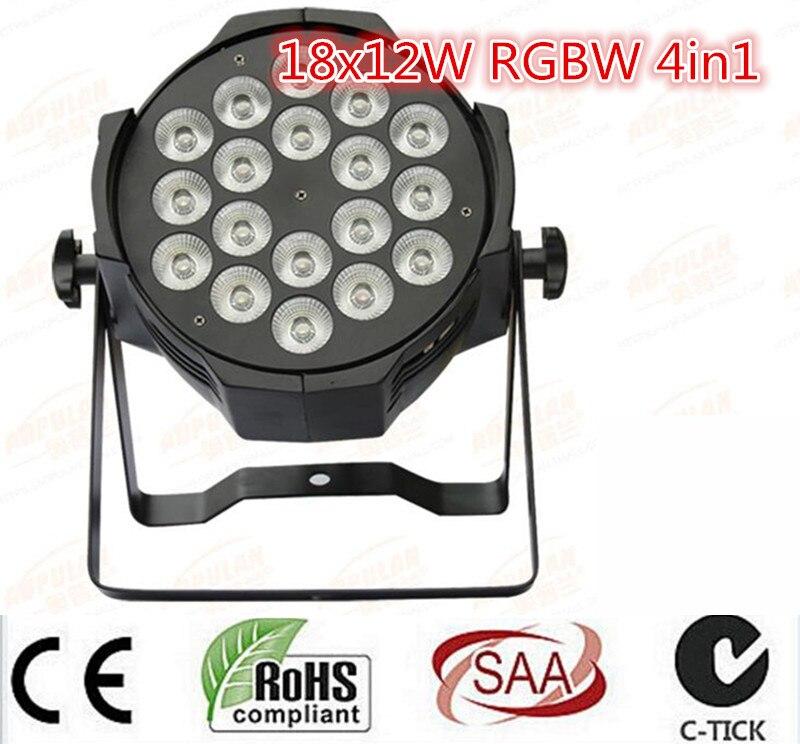 LED par 18x12W RGBW 4in1 Quad LED Par Can Par64 led spotlight dj projector wash lighting stage light lightLED par 18x12W RGBW 4in1 Quad LED Par Can Par64 led spotlight dj projector wash lighting stage light light