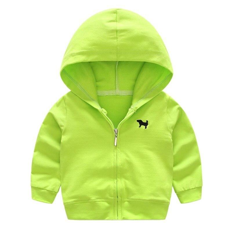 Jungen Mädchen Hoodies Langarm Einfarbig Mode Kinder Sweatshirts Strickjacke Jacken Mit Kapuze Mantel Mutter & Kinder