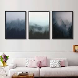 Украшение леса Холст Картина Скандинавская Настенная картина с ландшафтом плакаты и принты для гостиной оформление дома модульный картины