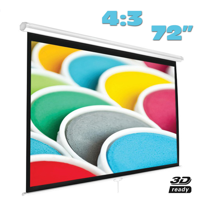 Fast Free Shipping! 72 inch 4:3 Manual Pull Down Projector Screens self-locking Projection Screen Matt White new t5971 t5974 t5978 empty refillable ink cartridge for epson stylus 7700 9700 7710 9710 with arc chips with one resetter