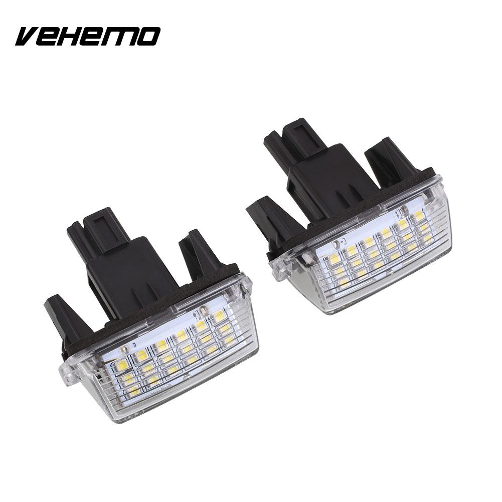 Vehemo 2Pcs 18LED 12V Car License Plate Light For Toyota Yaris 2012 Camry 2013 Super Bright High Quality Car Lamp Hot Selling