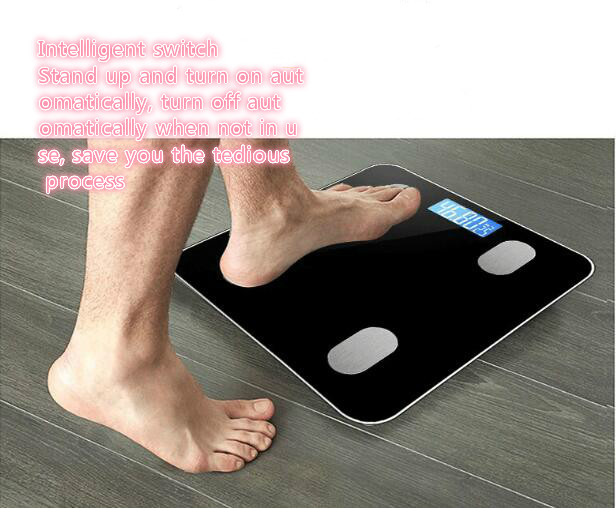 Bluetooth Multifunctional Electronic Scale Fat Scale Household Weight Scale Bathroom Scales free shipping in Bathroom Scales from Home Garden