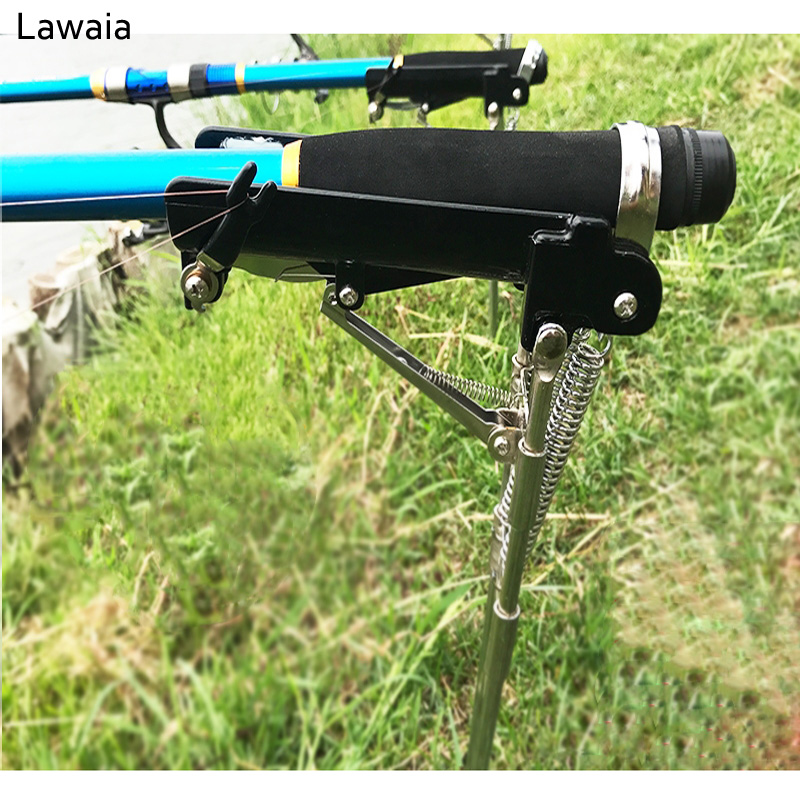 Lawaia Automatic Fishing Rod Bracket Adjustable Fishing Rod Holder Sea Rod Holder Stainless Steel Turret Dumper Bracket Rod Tool fishing tackle accessory tool 360 degrees rotatable rod holder bracket with screws for boat assault boats kayaking yacht