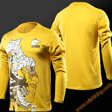 Cool Design Watch Over OW Hanzo T-shirts Blizzard OW Game Hanzo Hero Tshirts Long Sleeve Yellow Tees For Mens Boys
