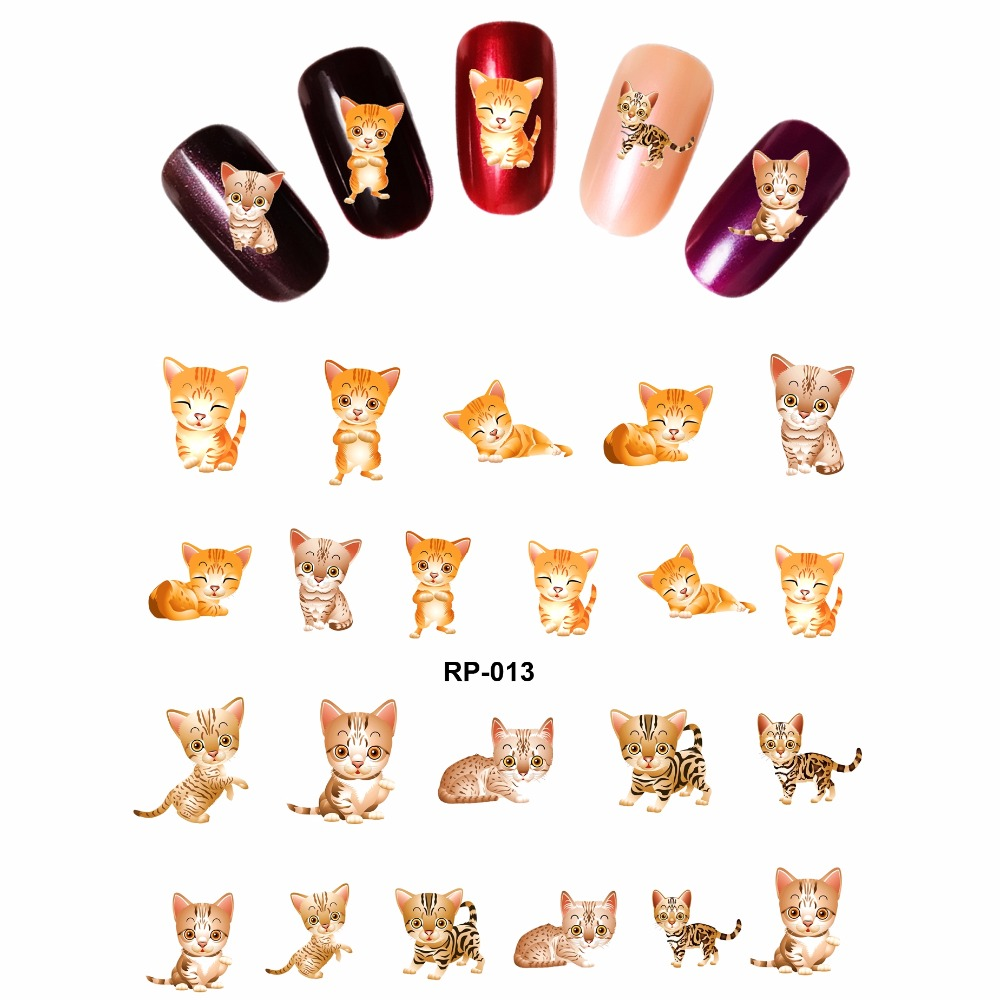 NAIL ART BEAUTY NAIL STICKER WATER DECAL SLIDER CARTOON LOVELY CUTE CAT font b PUSSY b