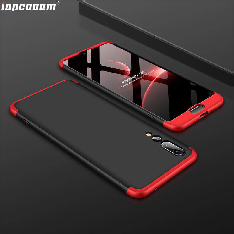 360 Full Protection Case For Huawei P20 Pro Case Luxury Hard PC Shockproof Back Cover Case For Huawei P20 Pro cases in Half wrapped Cases from Cellphones Telecommunications