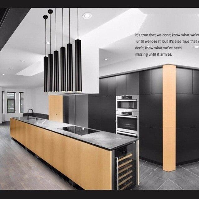 LukLoy Pendant Lights Modern Kitchen Bar Counter Pendant Spot Light Lamp Dining Shop Pipe Aluminum Cylinder Lamp Loft luminaire