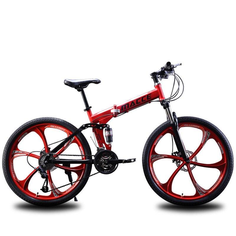 2019 nouveau 26 pouce 10 secondes rapide vélo pliant d'horaires de postes variables disque de frein avant et arrière amortisseur vélo