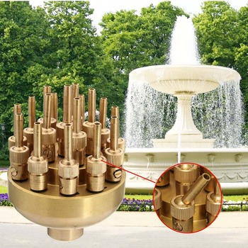 "High Quality 1.2"" 3 Layers Fountain Nozzle 17 Sprinkler Spray Head Pond Pool Brass For Garden"