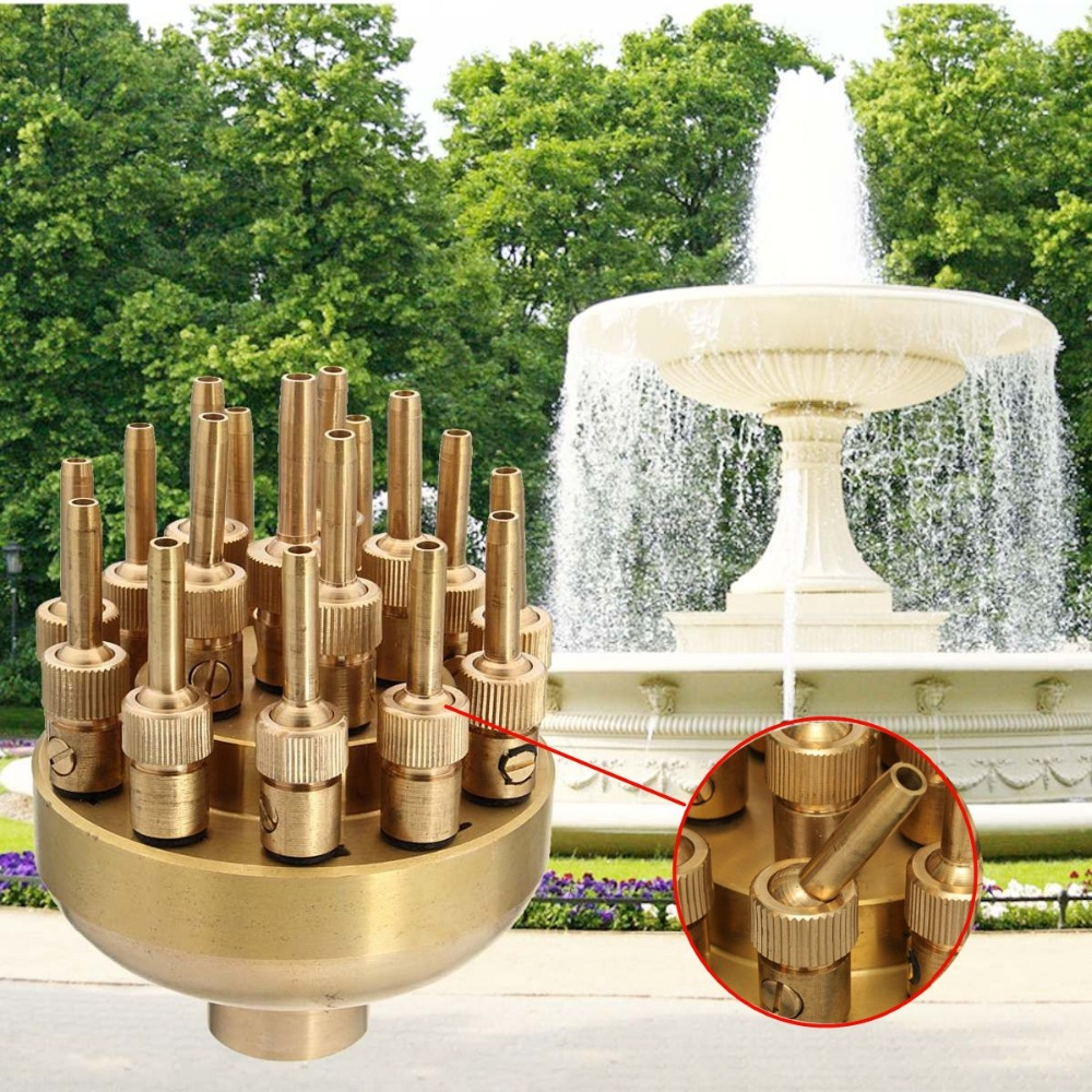 Cabeça de Pulverizador de Aspersão Bronze para Jardim Alta Qualidade Camadas Fonte Bico 17 Lagoa Piscina 1.2 3