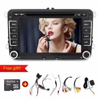 Quad Core Android Car Dvd Player Gps 2Din 7 Inch For Volkswagen VW Skoda POLO PASSAT