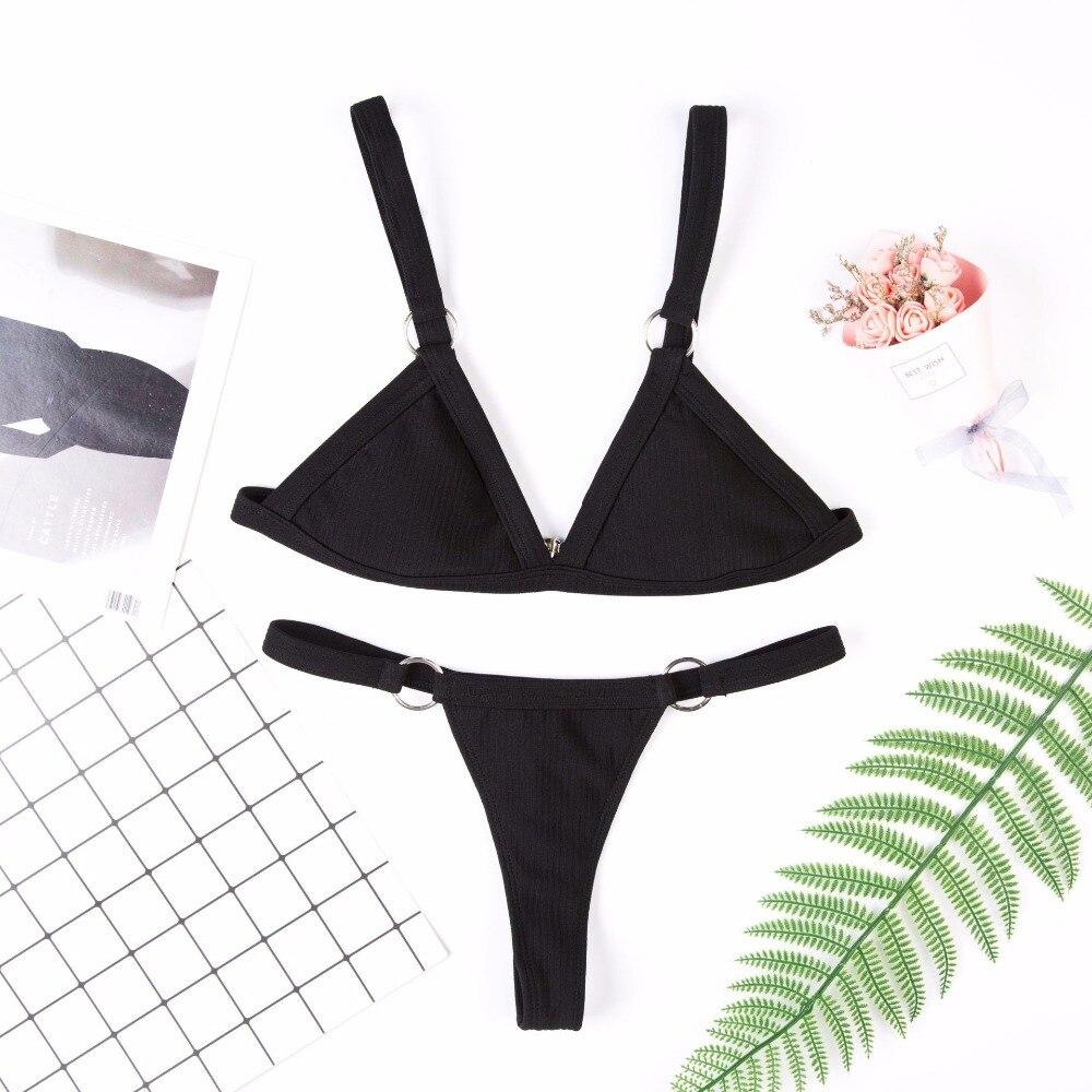 New European and American Bikini Pure Split Swimsuit Multicolor Bikini in 2019