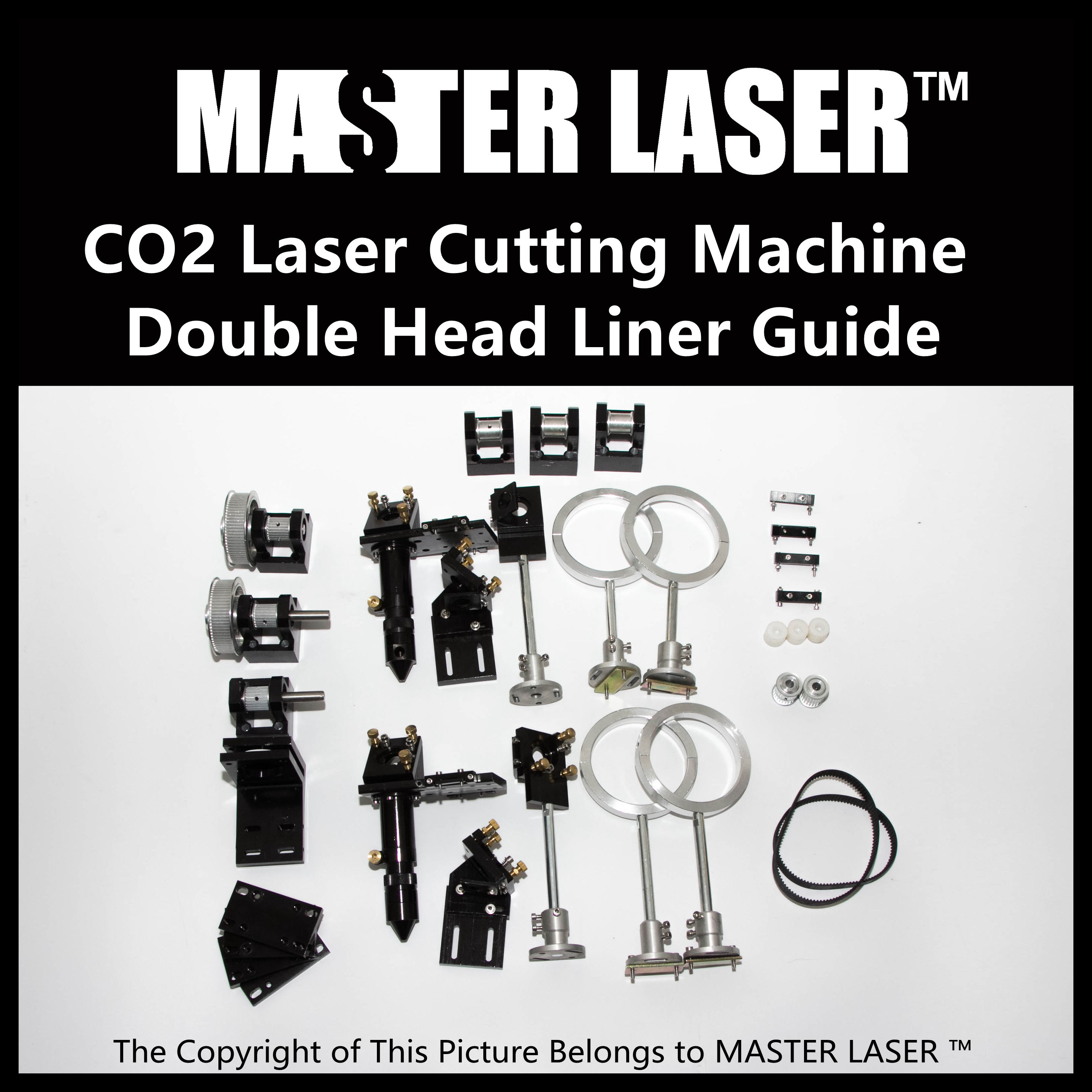 Whole Set CO2 Laser Cutter Parts Laser Mechanical Components Diy CO2 Laser Laser Heads limit switches for laser cutting machine with co2 laser mechanical parts whole set diy rectangular wheel linear slide rail