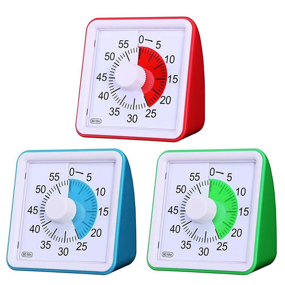 Portable 60minute Visual Timer Kitchen Silent Timer Management Tools For Children Adults Classroom Countdown Wall Clocks