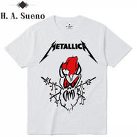 H A Sueno Carton Bird Print Men T Shirts Metallica Funny Men S Tops Fashion High