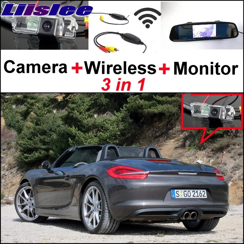 Liislee Special Wifi Camera + Wireless Receiver + Mirror Monitor Easy DIY Parking System For Porsche Boxster 987 981 Panamera 3 in1 special rear view camera wireless receiver mirror monitor back up parking system for citroen ds3 ds 3 2009 2015