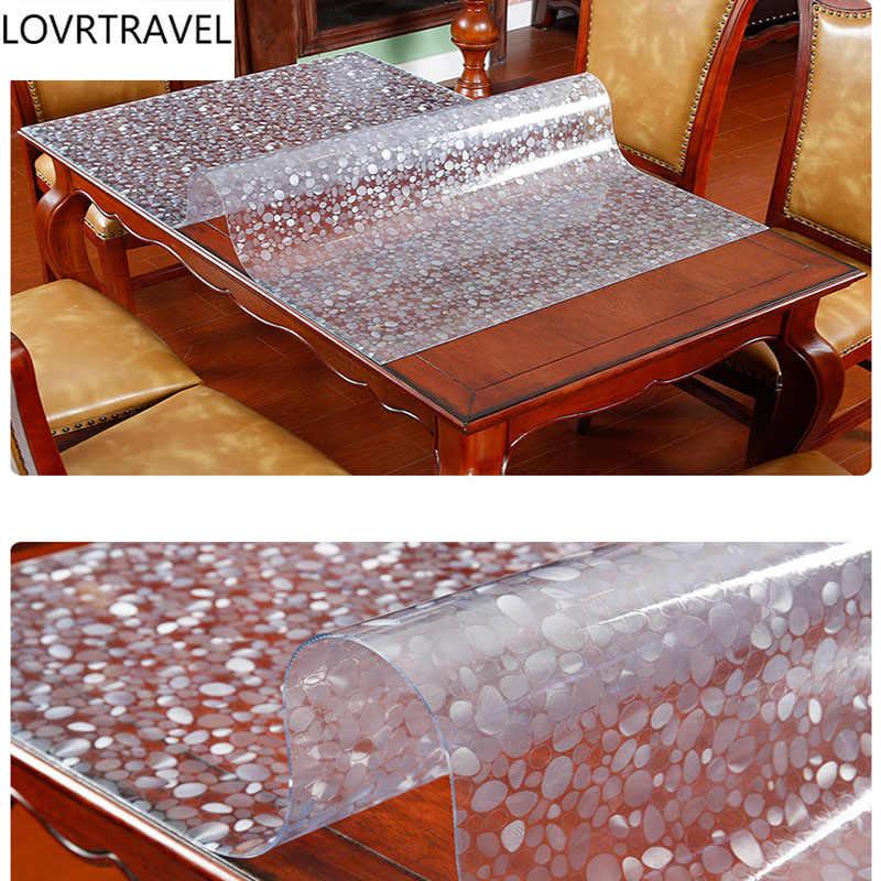 Lovrдорожная крышка стола 1,00 мм 1,5 мм мягкая стеклянная Прозрачная ПВХ скатерть водонепроницаемые вечерние свадебные домашние кухонные подложка под столовые приборы