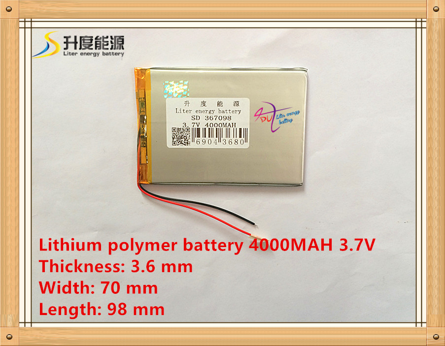Liter energy battery 367098 4000mAh 3 7V original road N70S 7 inch Tablet PC battery cool