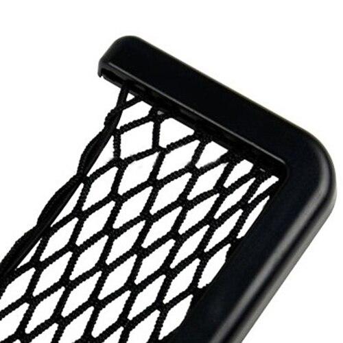 organizador coche Universal Car Seat Side Back Storage car accessories Net Bag Phone Holder Pocket Organizer Black  3