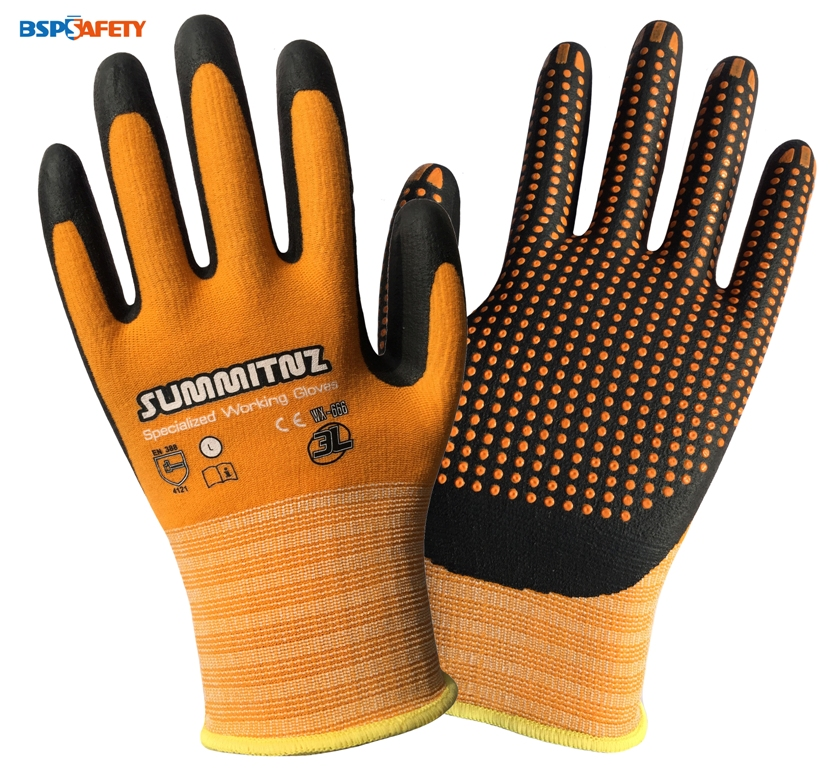 Super Grip Garden Glove Nitrile Foam Micro Dot Palm Coated Gardening Work Gloves
