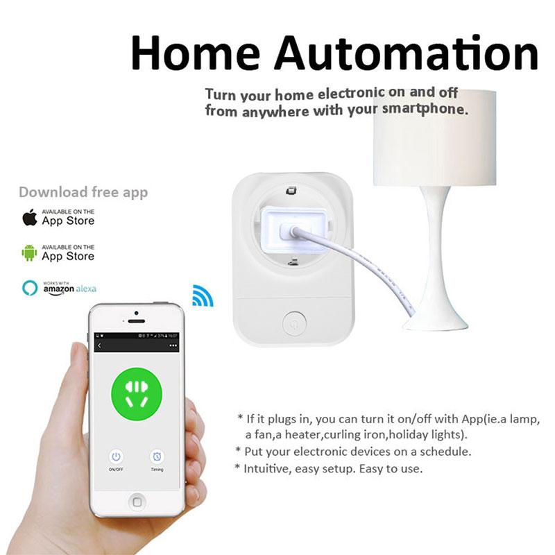 Wifi Smart Socket Smart Plug Mobile APP Remote Control USB Output Works with Amazon Alexa Google Home EU/UK/FR Power Plug
