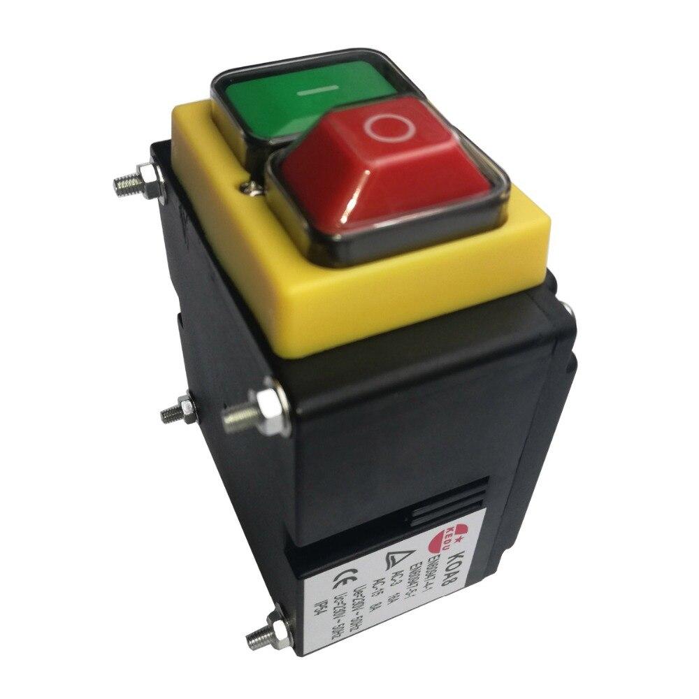 KEDU KOA8 230 V 16 (8) A étanche à l'eau magnétique industrielle interrupteur à bouton-poussoir pour Machine d'équipement électrique