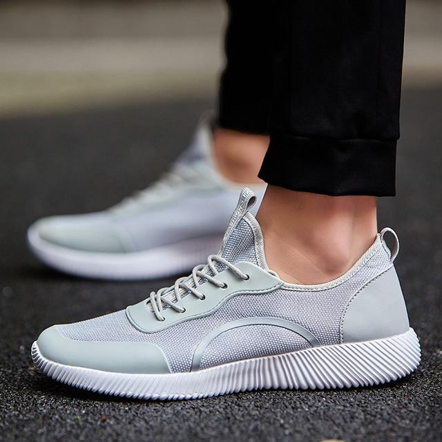 Big Size 35-47 Men Shoes 2018 Men Casual Shoes Summer Breathable Lace up Flats Fashion Light Male Footwear Boy Shoes for men