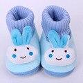 Conejo de dibujos animados Niña Zapatos Mocasines Antideslizante Suave Polar Bebé Recién Nacido Invierno Slipper Socks