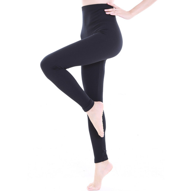 cb2566684aec 2 piece pack 300D Women's Winter Plus Cashmere Thermo Leggings Fashion Big  Size Warm Velvet Winter Thick Slim Seamless Leggings