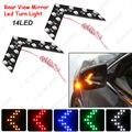 1 pc Auto/Car LED Seta Luzes 14-smd Espelho Lateral Traseira Virada Indicador LED de Luz 5 Cores para A Escolha branco, vermelho, azul, amarelo # CA3108