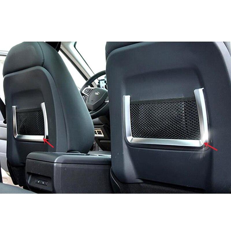 Style de voiture! pour Land Rover Discovery Sport 2015 2016 intérieur Chrome intérieur siège intérieur filet garniture de couverture 2 pièces