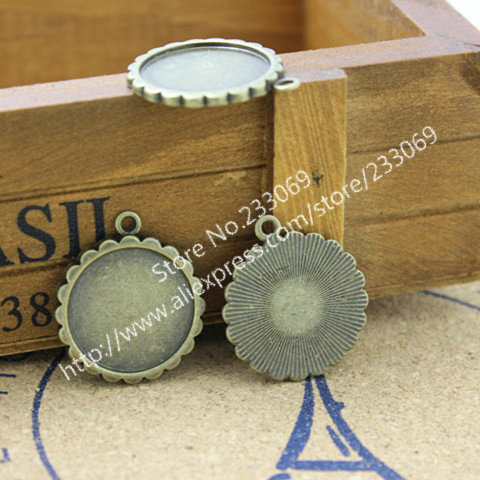 20 PCS/lot Vintage lace Round Cabochon Settings Jewelry Findings & Components 20 mm Fit Jewelry Di T0010