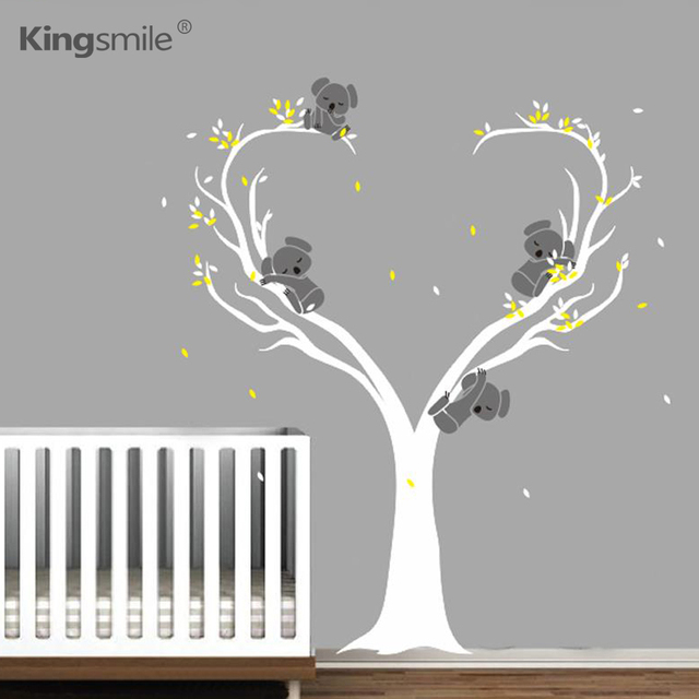 Modern Koalas Bear Tree Branches Vinyls Wall Stickers Animal Nursery Art  Decals Baby Wall Art Sticker Part 72