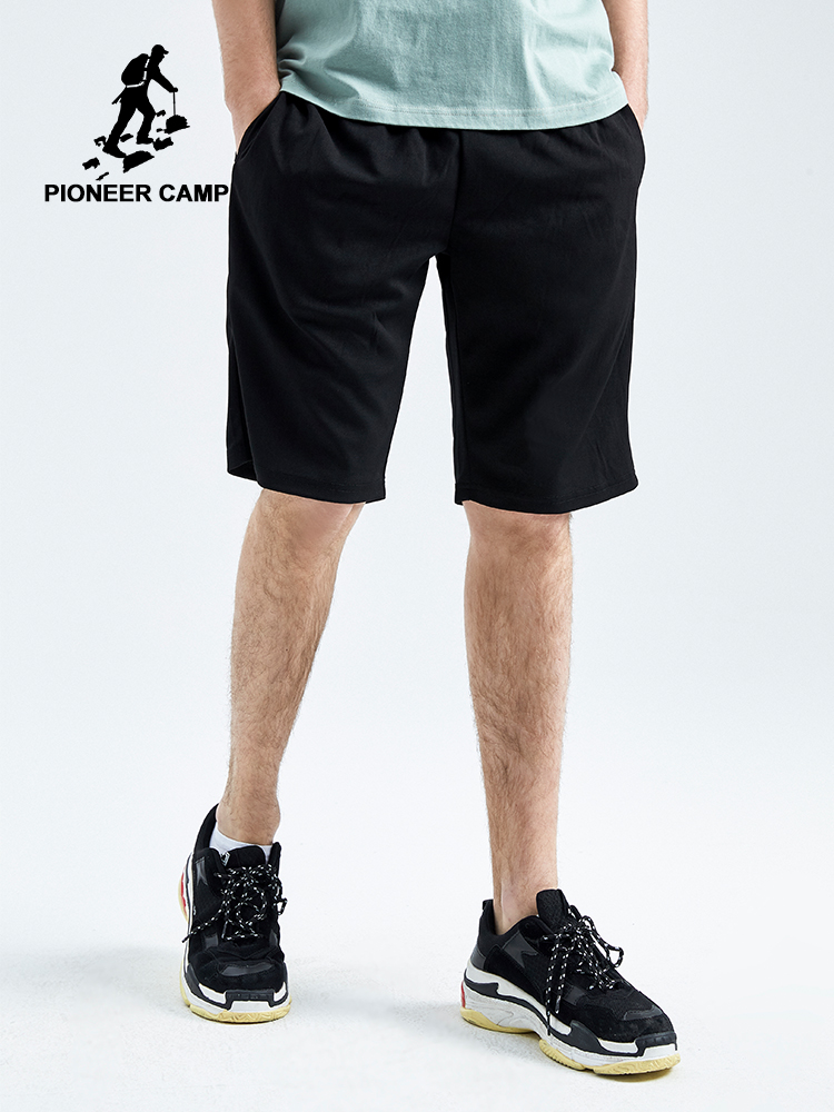 Pioneer Camp Solid Men's Short Summer Mens Beach Shorts Cotton Casual Homme Brand Clothing Knitting Shorts For Male ADK902172