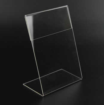 New 10pcs/lot High Quality Clear 6x9cm L Shape Acrylic Table Sign Price Tag Label Display Paper Promotion Card Holder Stand - DISCOUNT ITEM  8% OFF All Category