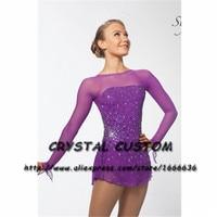 Crystal Custom Ice Figure Skating Dresses For Girls New Brand Ice Skating Dresses For Competition DR4495