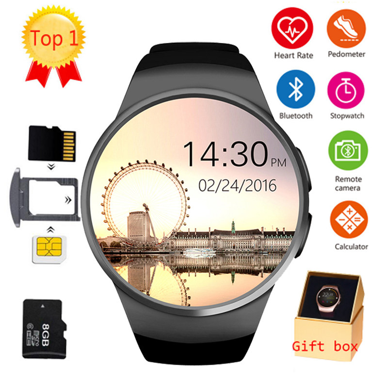 FROMPRO KW18 Bluetooth smart watch full screen Support SIM TF Card Smartwatch Phone Heart Rate for