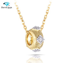 цены DovEggs Ethnic 14K Yellow Gold Sterling Solid 925 Silver  Vintage  2MM Heart and Arrow Cut Moissanite Pendant Necklace for Women