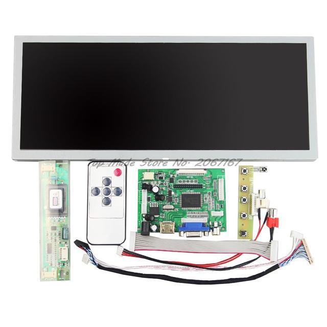 HDMI + VGA + 2AV Жк-Контроллер Езды Доска + 12.3 дюймовый 1280*480 LQ123K1LG03 ЖК-Панель