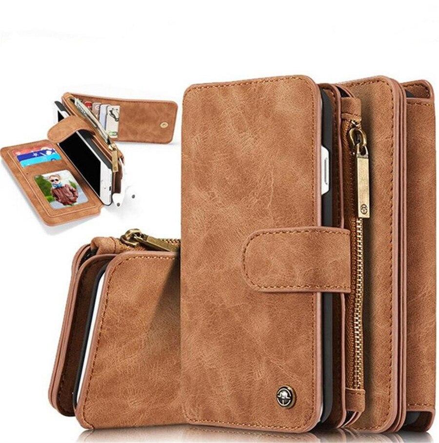 imágenes para Para el iphone 6 Caso de Cuero de Vaca 2en1 Teléfono Tirón de la Carpeta Cubierta de La Bolsa para el iphone de Apple 7 Caso de iPhone 6 s Contraportada Casos 5S6 Más Cubierta