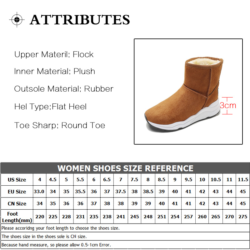 Winter Snow Boots Women Casual Shoes Slip On Warm Plush Women Ankle Boots Flat Heel Sport Ladies Shoes Booties Botas Mujer XZ82 (33)
